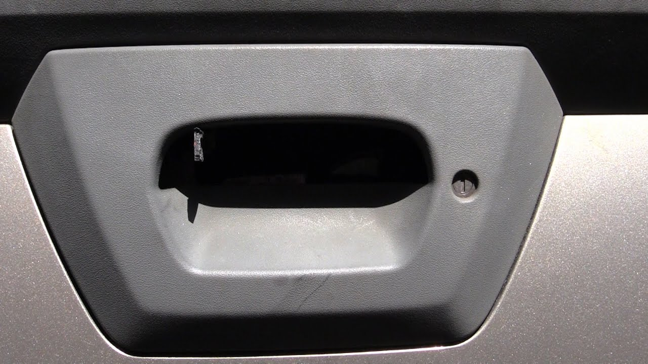 Chevy avalanche tailgate handle broke how to open