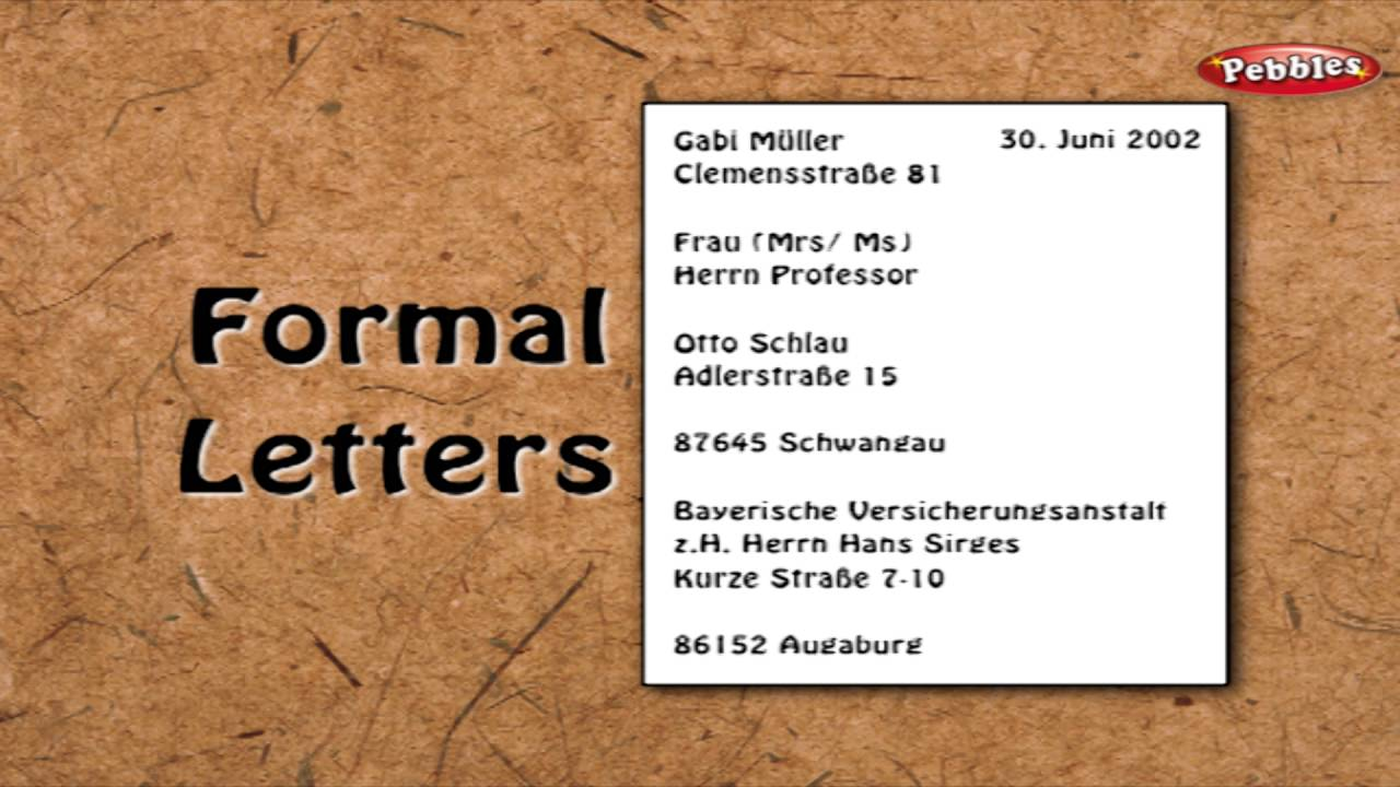 Letter writing in german learn german through english learn letter writing in german learn german through english learn german for beginners expocarfo Image collections