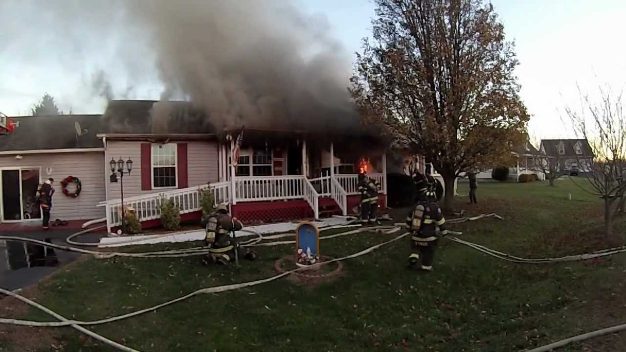 Stallman Working House Fire W Firefighter Rescue Great