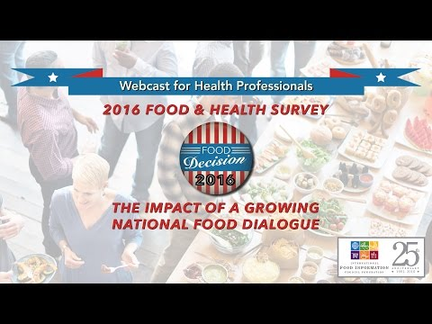 2016 Food & Health Survey webcast for health professionals