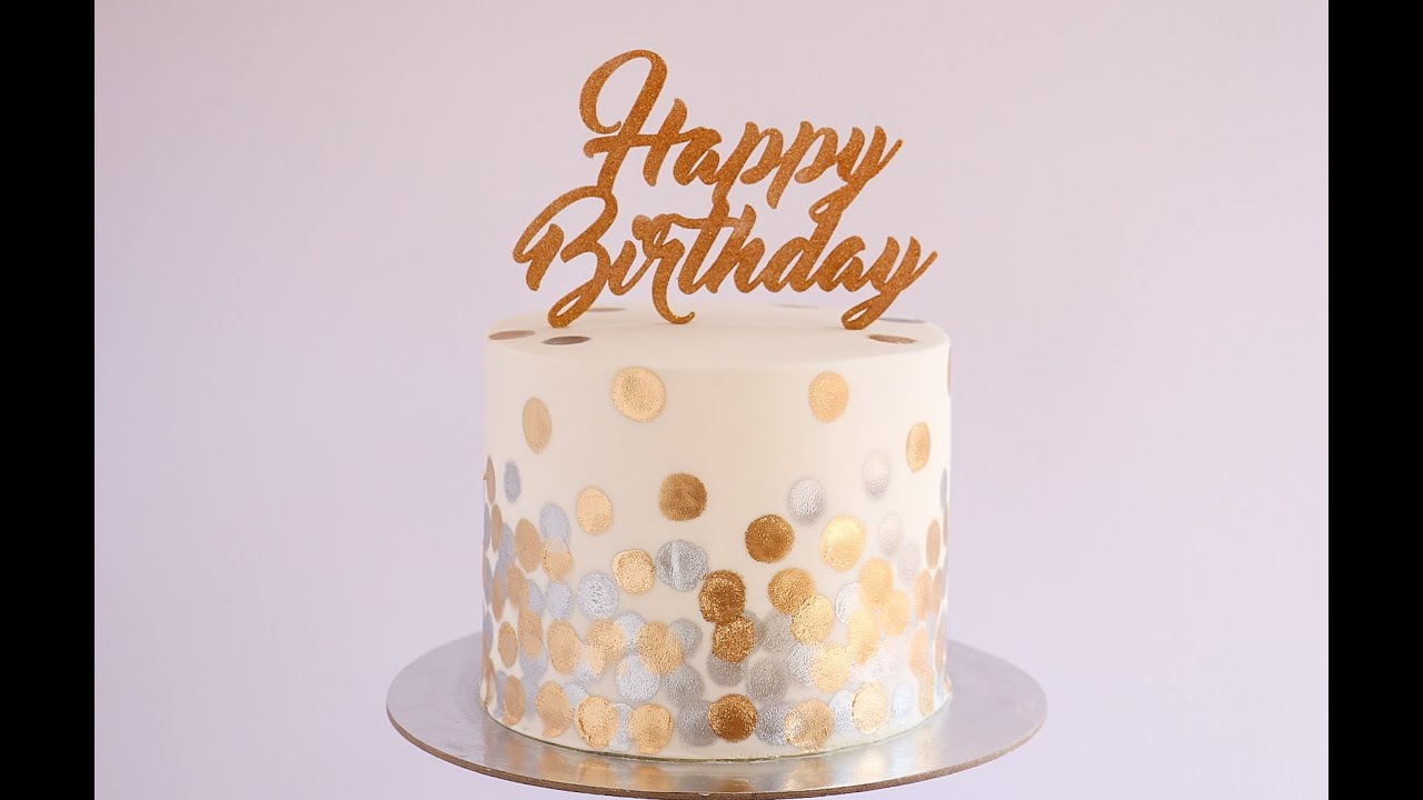 Gold And Silver Bokeh Pattern Cake Tutorial Rosie S
