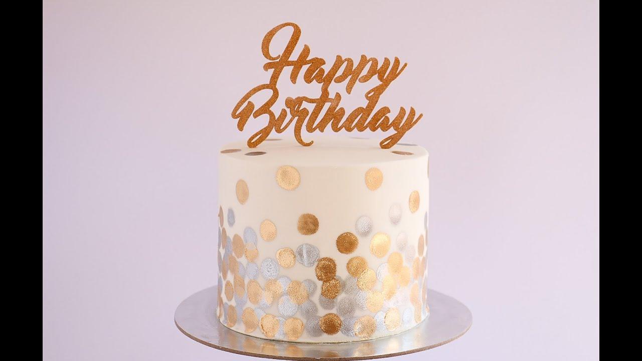Black And White Polka Dot Wallpaper Border Gold And Silver Bokeh Pattern Cake Tutorial Rosie S