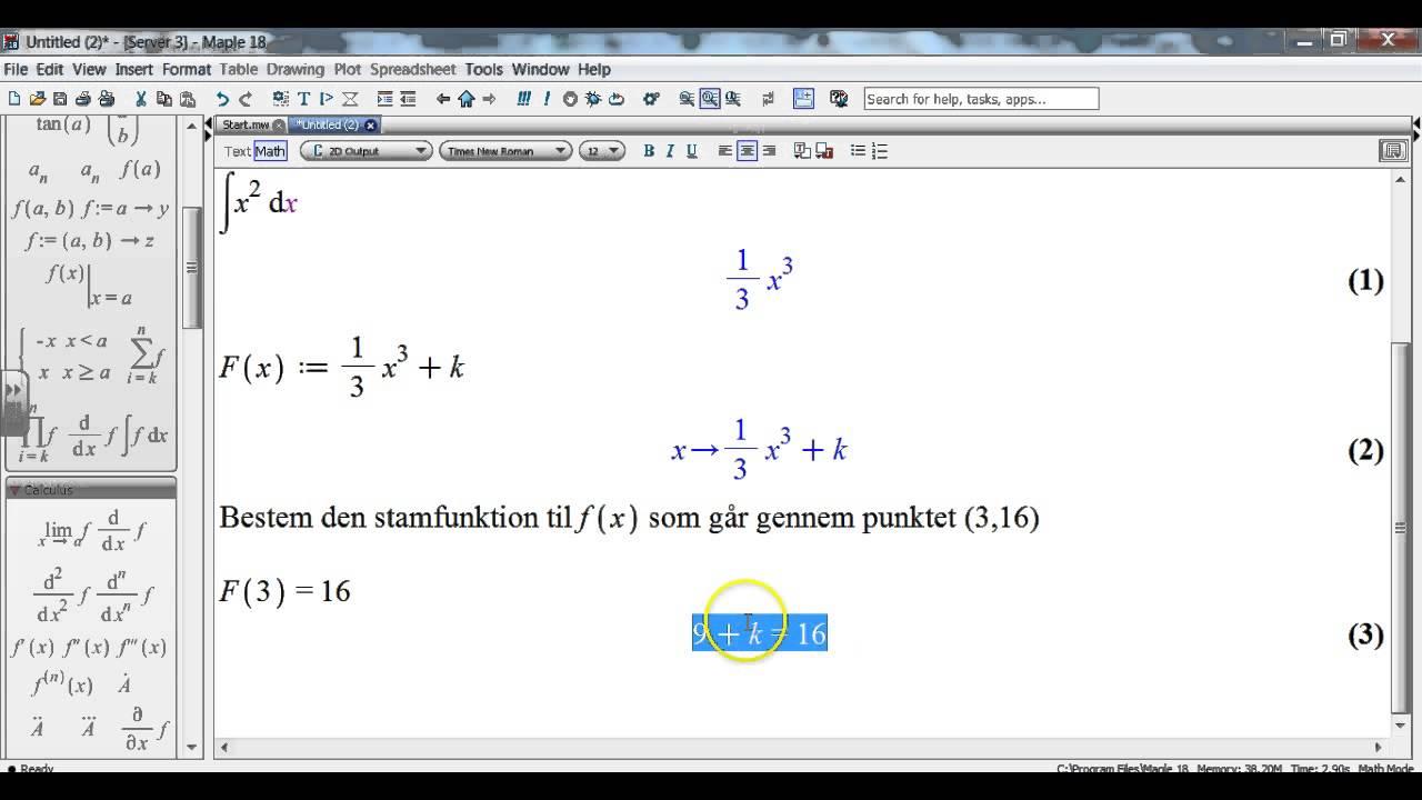 Stamfunktioner - ubstemte integraler