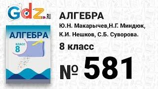№ 581- Алгебра 8 класс Макарычев