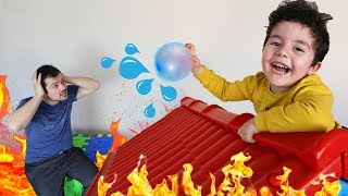 Cezalı The Floor is Lava Challenge!! Funny Kids Video