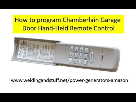 How To Change An Existing Code On The Chamberlain Garage Door Opener Keypad Youtube