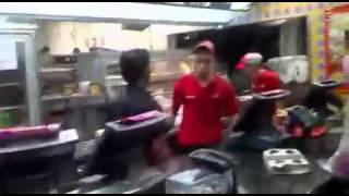 kfc guy goes mad watch out