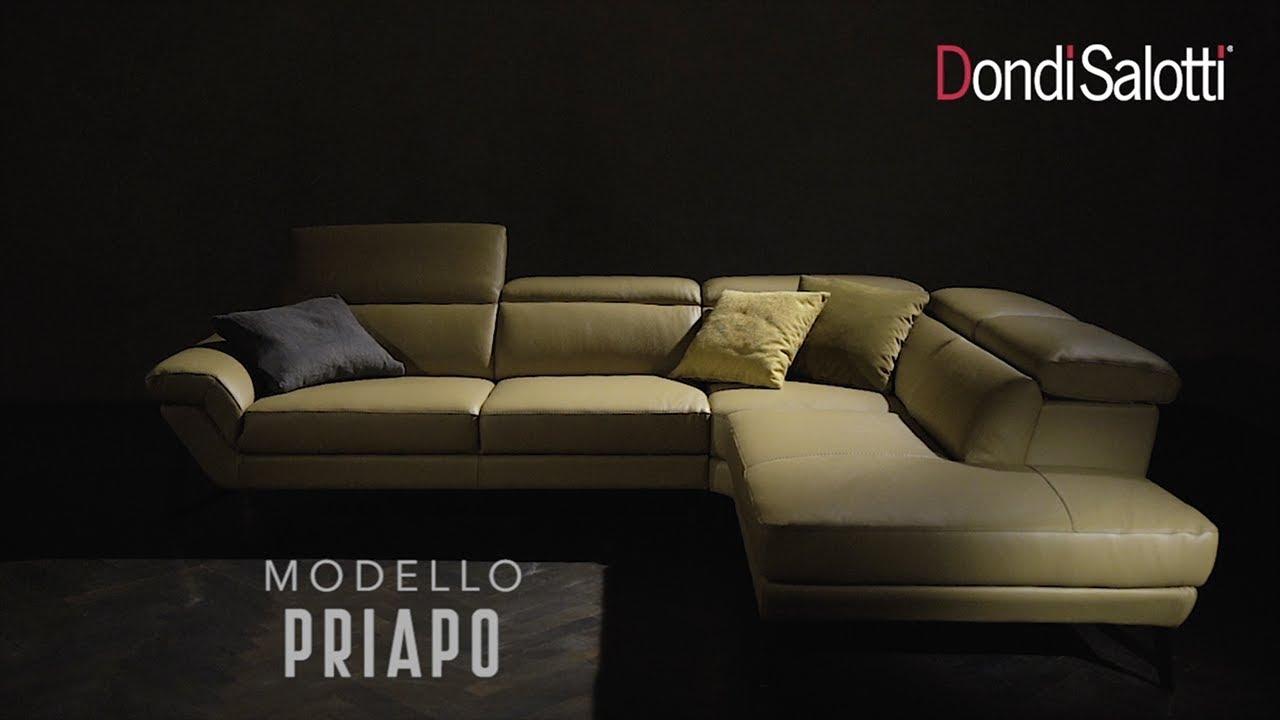 Priapo, divano in pelle componibile con schienali regolabili, Dondi ...