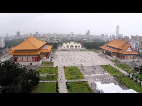Flight over Chiang Kai-shek Memorial Hall, Taipei, Taiwan