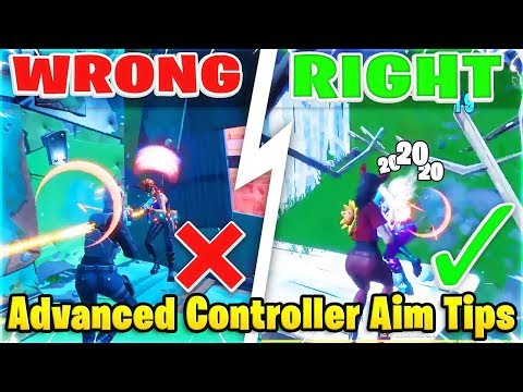 Advanced Tips To Aim Better For Controller Fortnite! (Fortnite How To Aim - PS4 + Xbox)