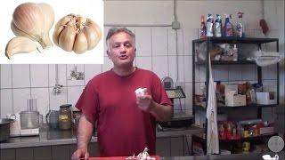 Knoblauch einfachste schnellste beste Methode Garlic peeled