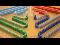 Amazing COLOR CHANGING Dominoes! (Part 1)
