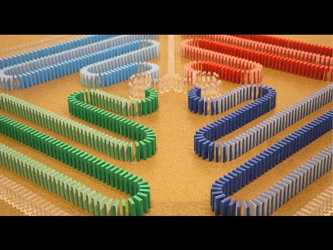 Thumbnail: Amazing COLOR CHANGING Dominoes!