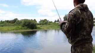 Риболовля на р. Вопь р. Ярцево Смоленської області 02 серпня 2015 р.