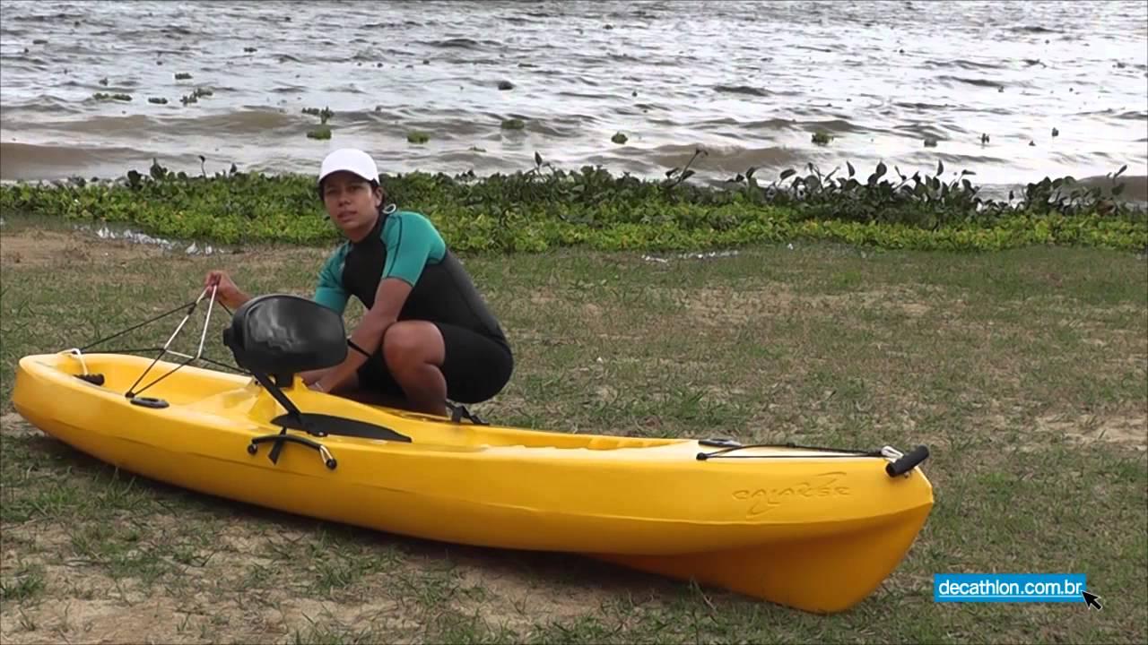 115c2202a Caiaque Pinguim Fishing Caiaker - Decathlon Brasil - YouTube