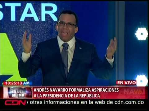 Navarro presenta formalmente candidadtura a la presidencia por el PLD