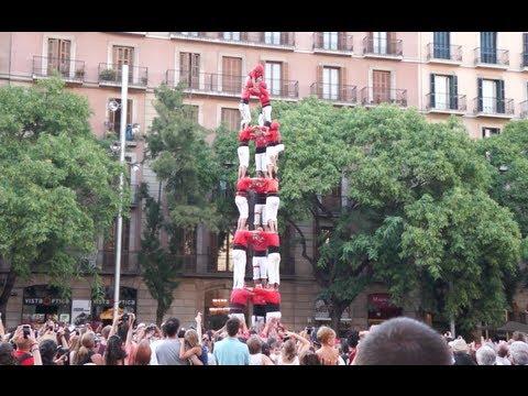 Barcelona human tower (Castell)