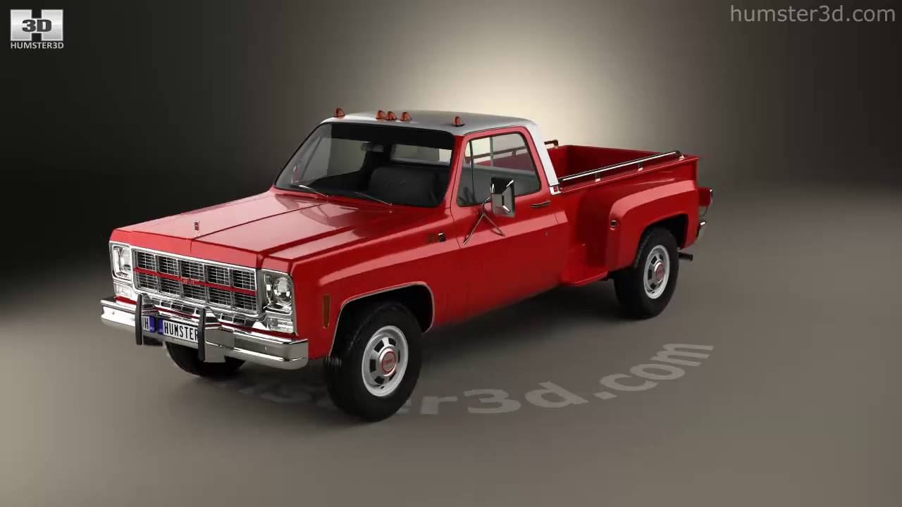 gmc sierra grande 454 pickup 1979 3d model by humster3d. Black Bedroom Furniture Sets. Home Design Ideas