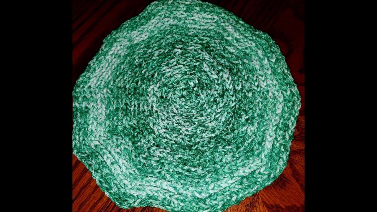 3rd Loop Half Double Crochet Dishcloth Tutorial