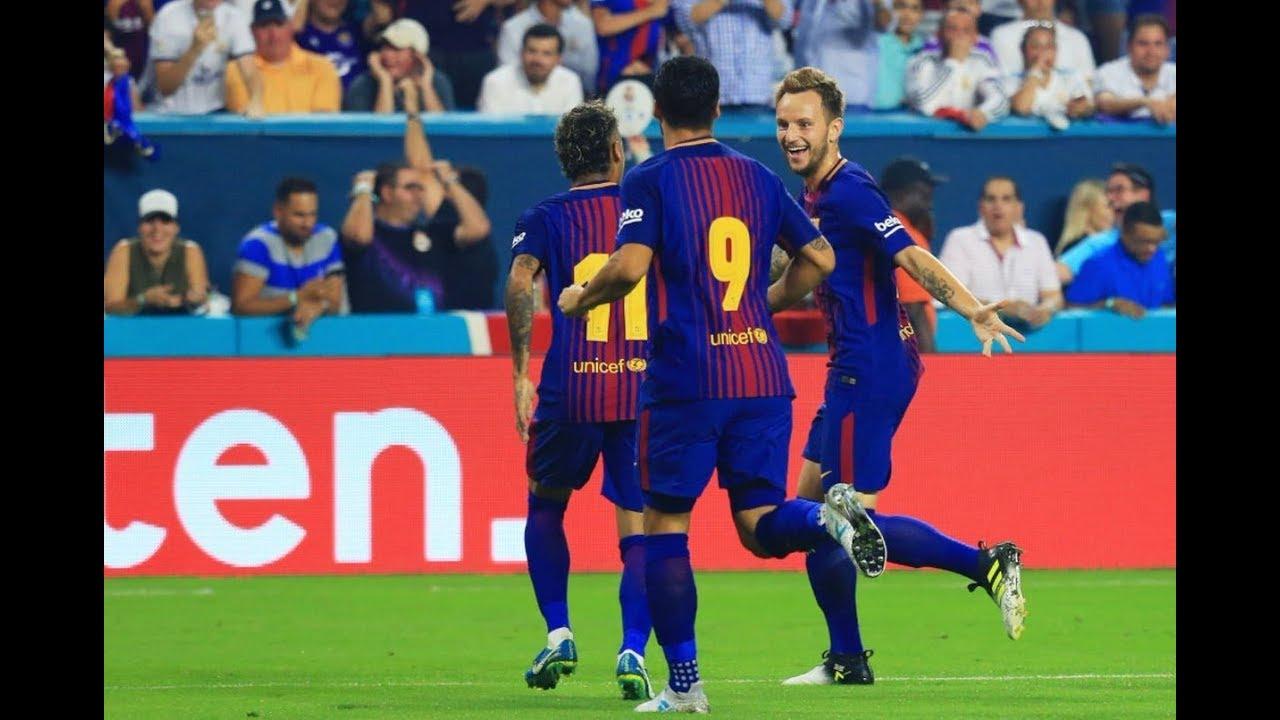 barcelona vs real madrid 3 2 el clasico miami international champions cup 2017