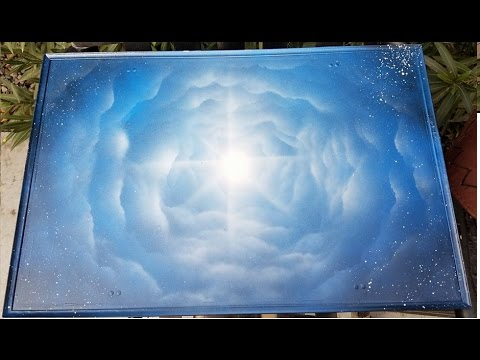 spray paint art tutorial for beginners on clouds - YouTube