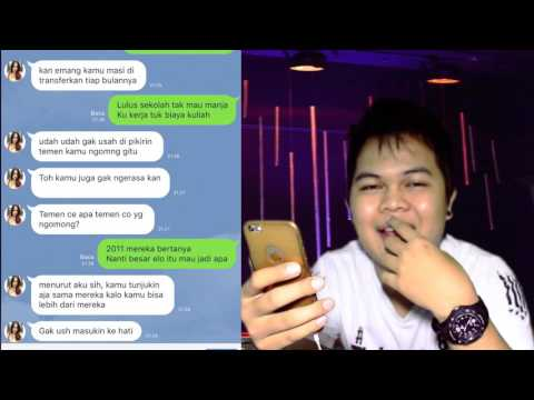 Text Prank Nembak Gebetan pakek Lirik Lagu Young Lex feat Awkarin Bad