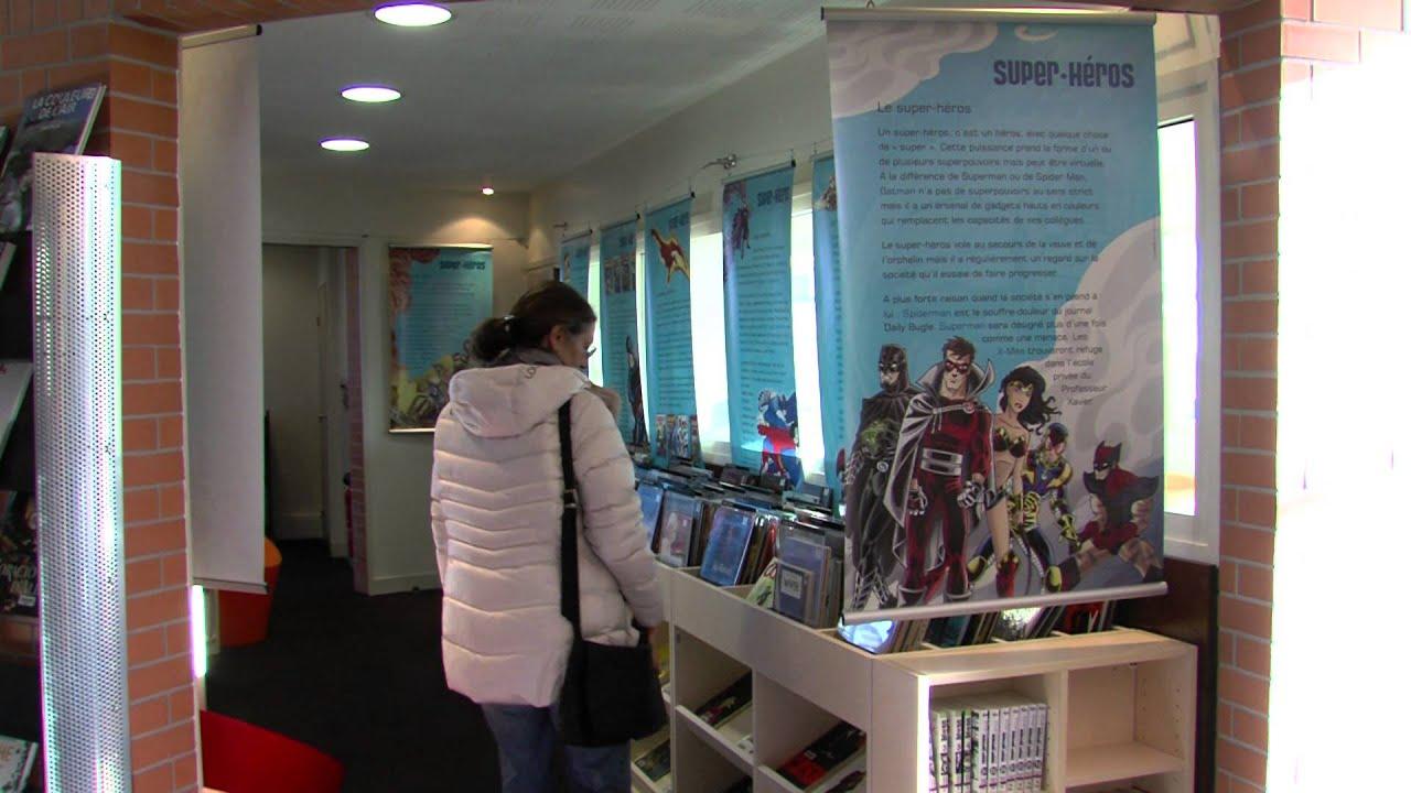 Exposition : les super-héros à la médiathèque Jean-Rousselot