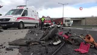 Bolu'da ki feci kaza kameralara yansıdı