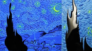 How to Make a Starry Night Painting | Glow in the dark