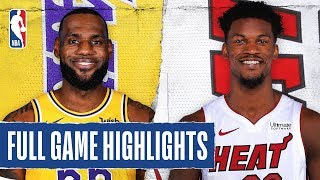 LAKERS at HEAT | FULL GAME HIGHLIGHTS | December 13, 2019