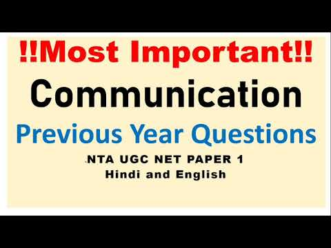 Communication Topic Previous Year Questions Nta Ugc Net Paper 1