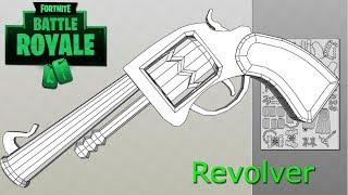 Fortnite battle royale revolver papercraft