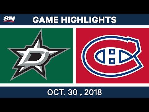 NHL Highlights | Stars vs. Canadiens - Oct. 30, 2018