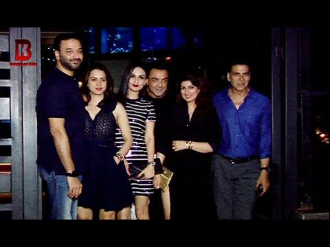 Akshay Kumar Birthday Celebration Her Family With Bobby Deol, Twinkle Khanna AT YAUATCHA Mp3