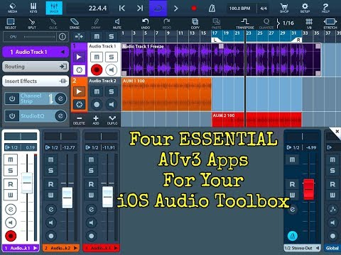 Four ESSENTIAL AUv3 FX Apps for your iOS AUDIO TOOLBOX - iPad Demo