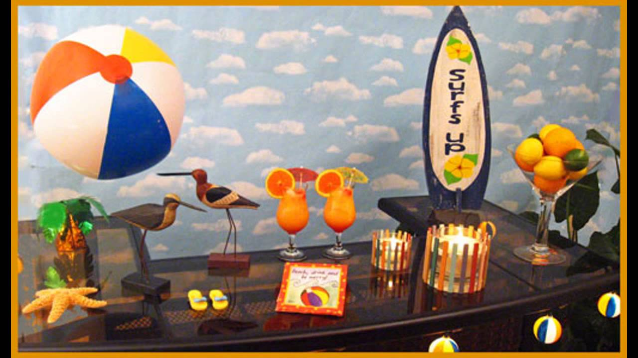 Beach Theme Party Decorating Ideas Part - 48: Stunning Beach Party Decorations Ideas - YouTube