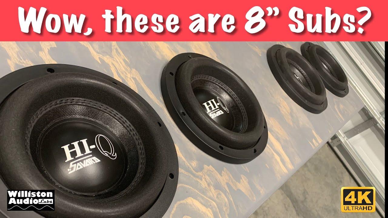 SAVARD Speakers HiQ Series 8 inch Dual 4 Ohm Subwoofer