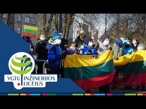 """""""Mano Lietuva"""" - licėjaus mokiniai sveikina su Kovo 11-ąja! (2021.03.11)"""
