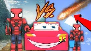 TSUNAMİ VS METEOR YAĞMURU - Minecraft