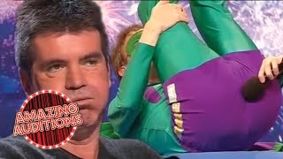 FARTING Audition Makes SIMON COWELL GAG!   Amazing Auditions