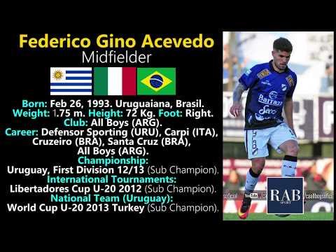 Federico Gino Acevedo  Midfielder  UruguayBrasilItalia  RAB SPORT