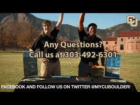 CU Boulder admissions?