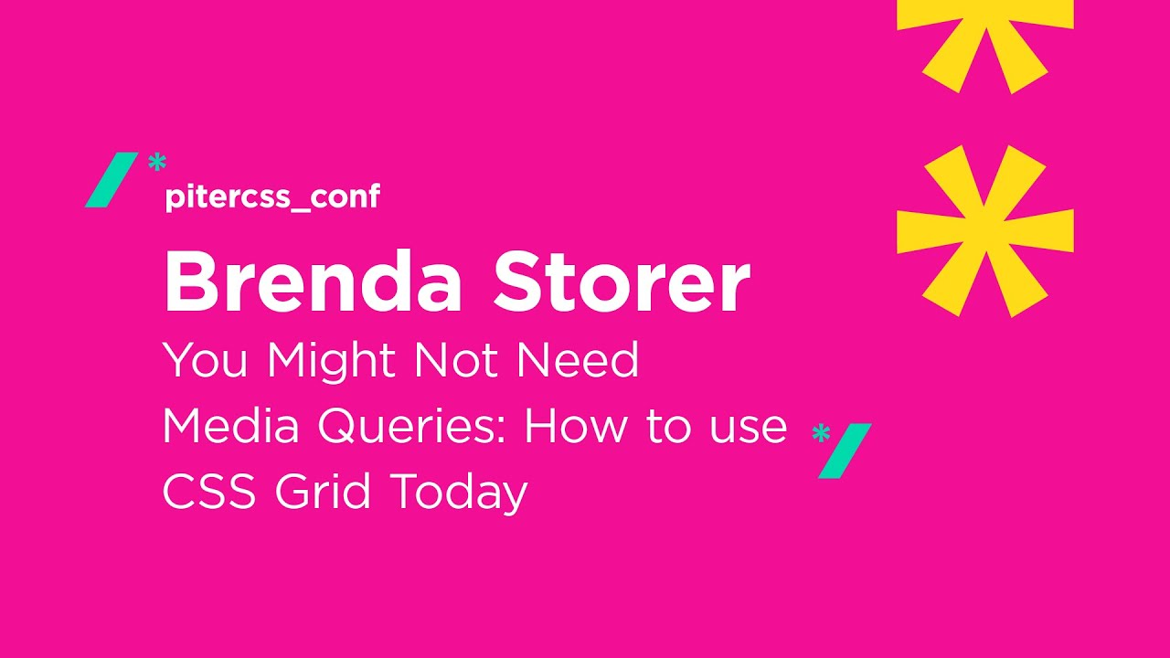 Download You Might Not Need Media Queries: How to Use CSS Grid Today, Brenda Storer