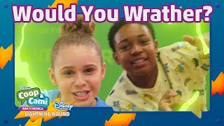 Disney Channel Lightning Round Challenge   Coop & Cami Ask the World   Disney Channel