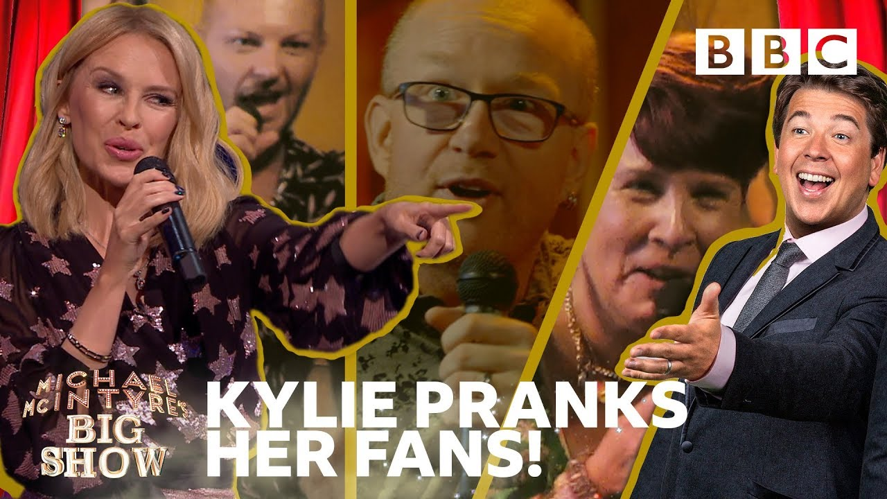 Kylie reacts to surprised fans' hilarious karaoke ? ? - BBC