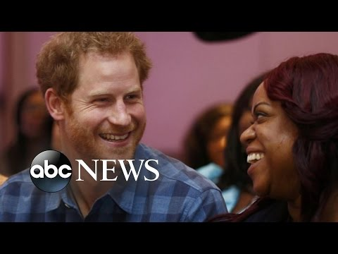 Prince Harry Meets Choir Promoting HIV Awareness