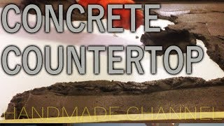 How I Failed my Concrete Countertop - Concretework on Handmade Channel