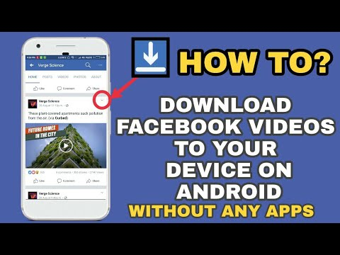 How to Download Facebook videos to Gallery on Android / without any  Software or Apps