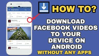 Download lagu How to Download Facebook videos to Gallery on Android / without any Software or Apps