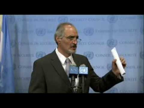 Bashar Ja'afari about UN resolution to destroy Syria's chemical weapons